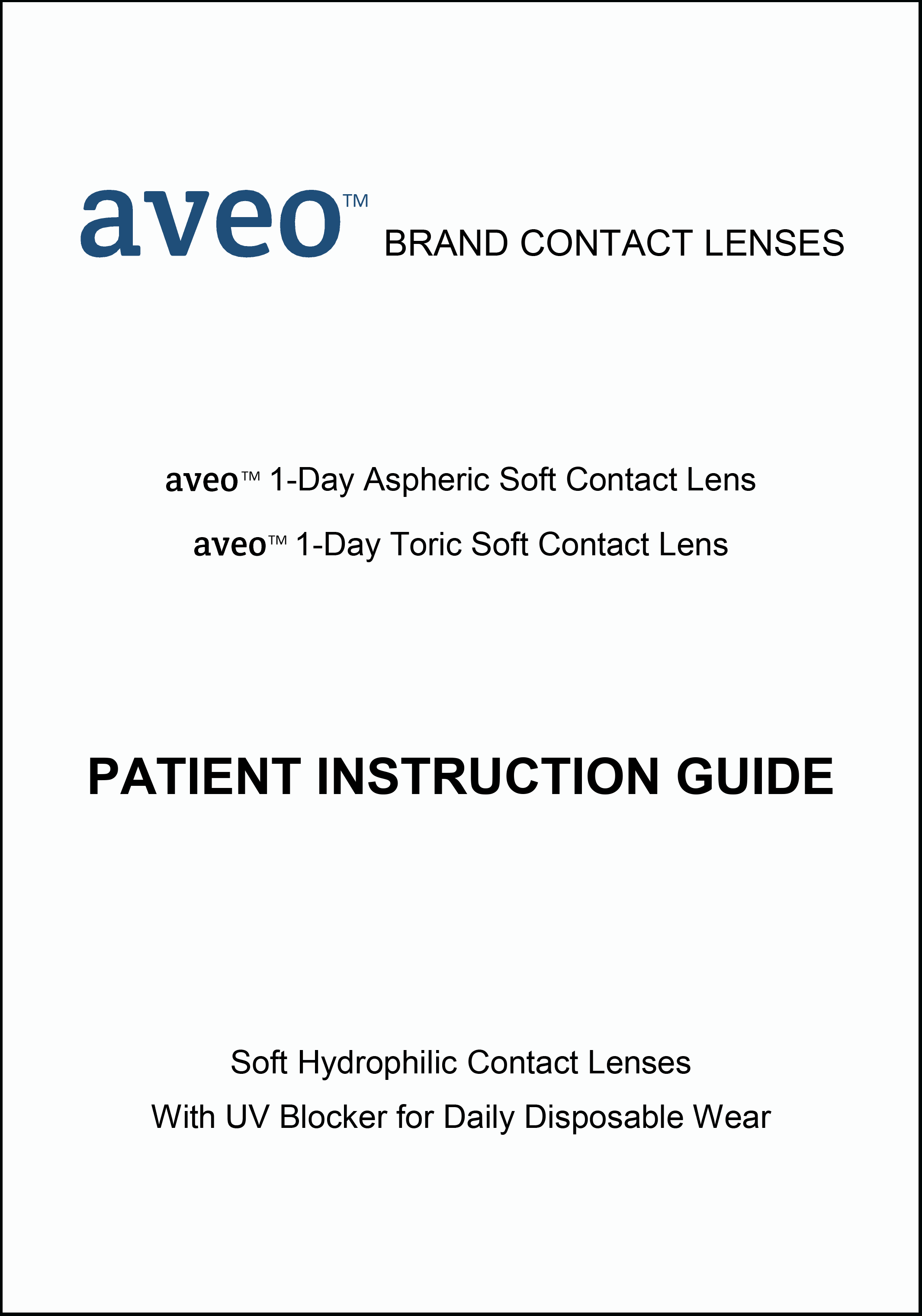 aveo-1-day-patient-instruction-guide-cover-page